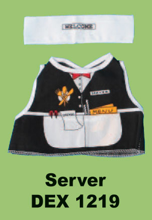 Server Doll and Teddy Bear Costume