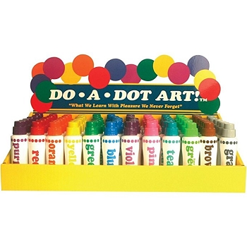 Do-A-Dot Bulk Primary Pack - Set of 72, 6 Each, 12 Colors
