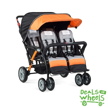 Quad Sport 4-Passenger Stroller - Orange