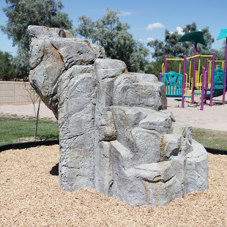 School Age, Medium Granite Boulder