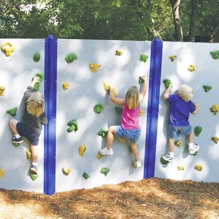 Preschool Horizontal Climbing Wall, Grey, 6' h