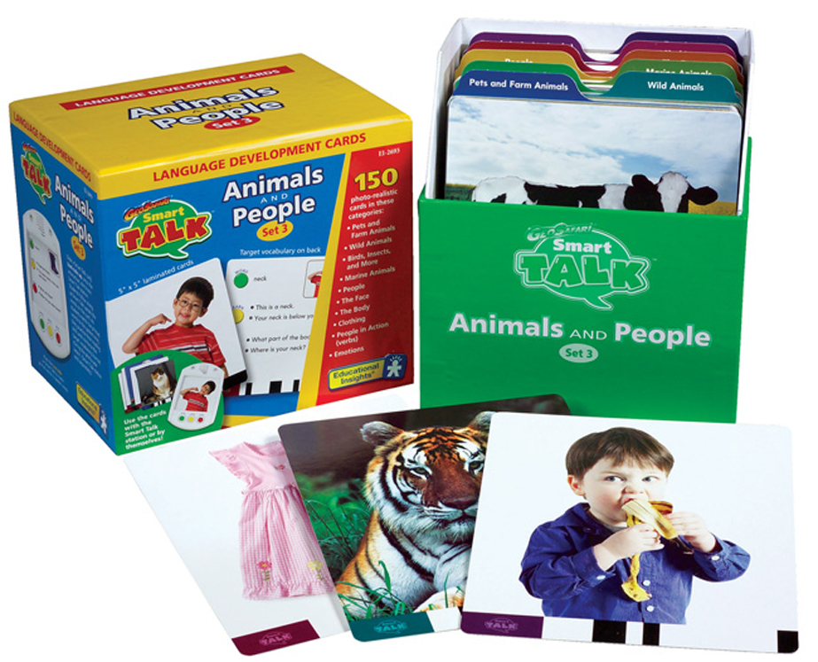 Smart Talk Card Set, Set 3: Animals & People