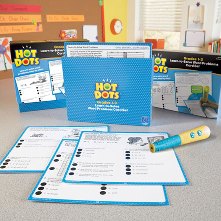 Hot Dots Learn to Solve Word Problems Set, Grades 4-6