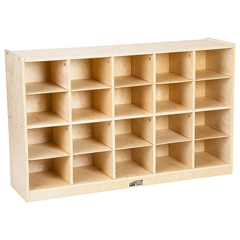 Birch Storage Cabinet with 20 Tray Cubbies