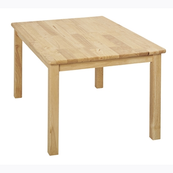 Rectangular Hardwood Table - 24