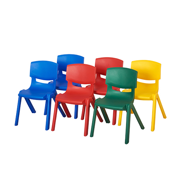 Assorted Color Resin Chairs - 6-Pack