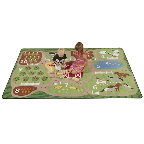 Count the Farm Activity Rug - Rectangle