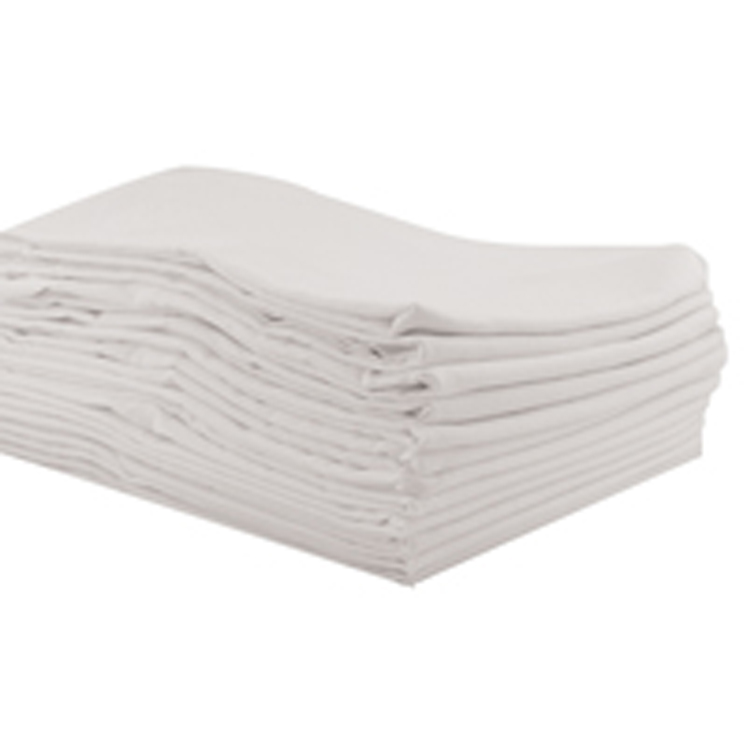 Toddler White Cot Sheets - 12 Pack