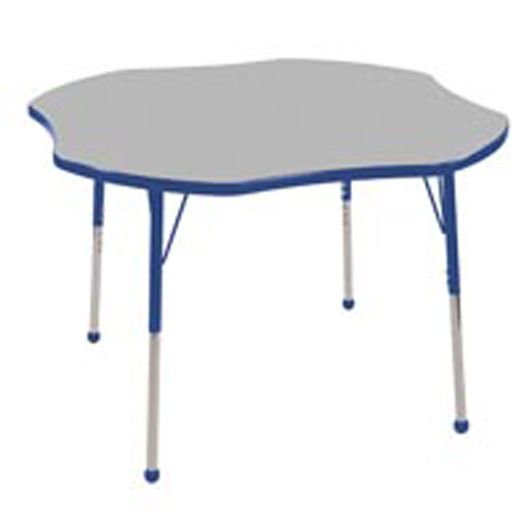 Adjustable Clover Activity Table with Color Banding and Legs