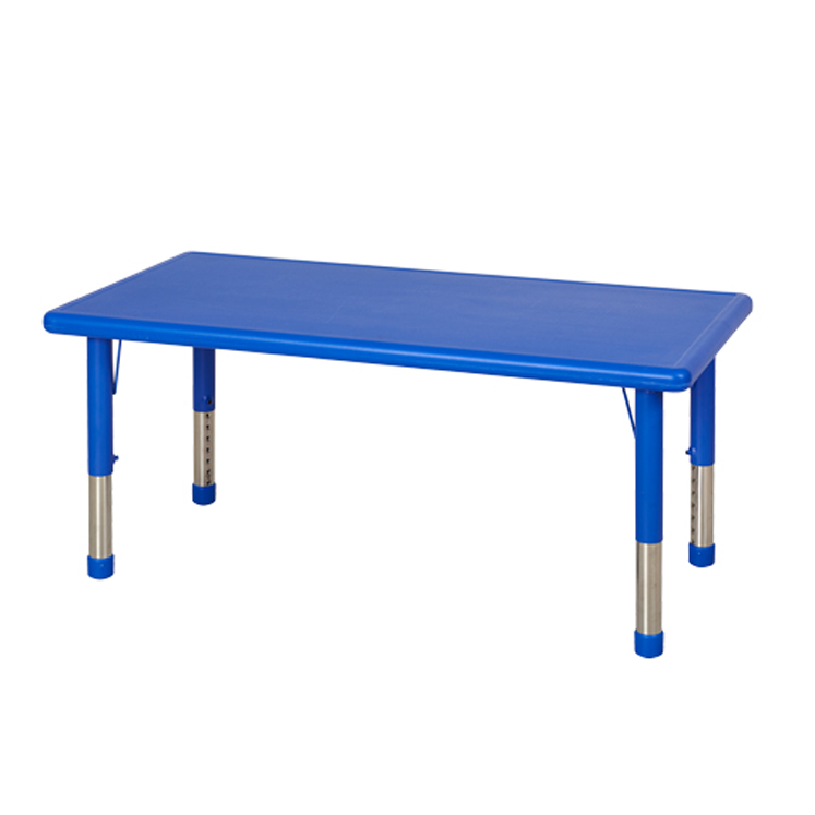 Resin Rectangle Adjustable Table - Choice of Color