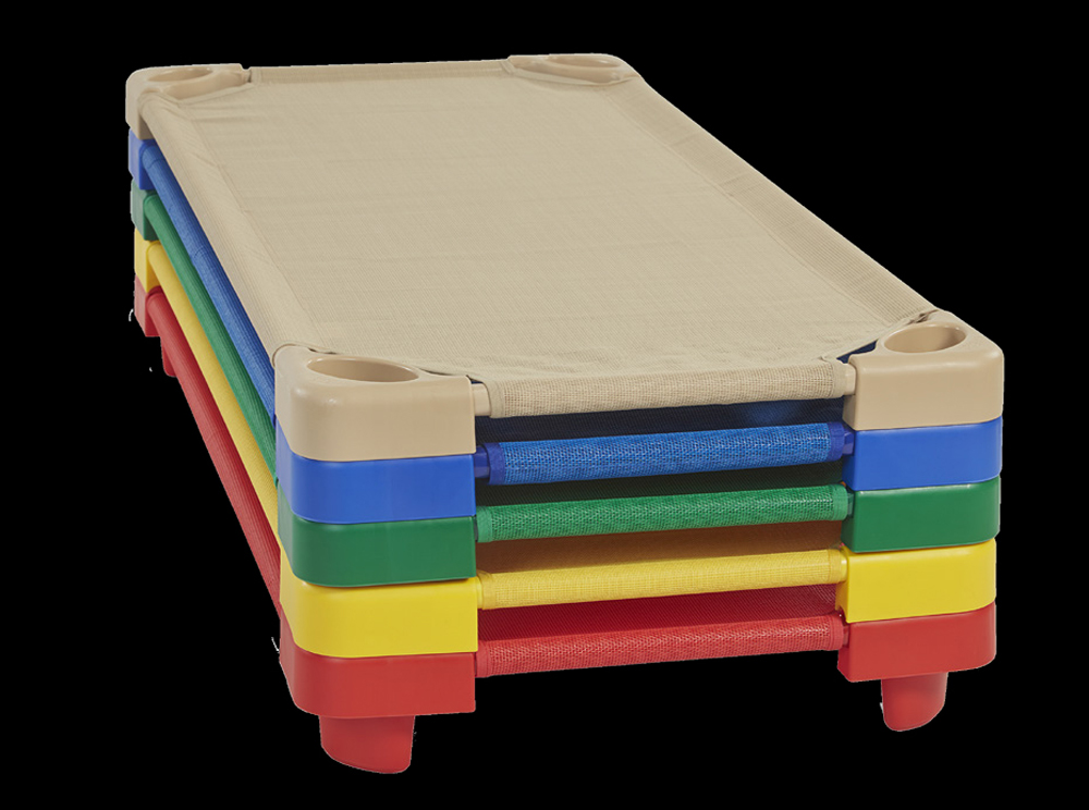 Stackable Standard Kiddie Kots - Assorted Primary Colors - Set of 4