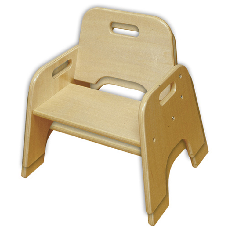 Wood Toddler Stackable Chair - 2-Pack - Ready to Assemble