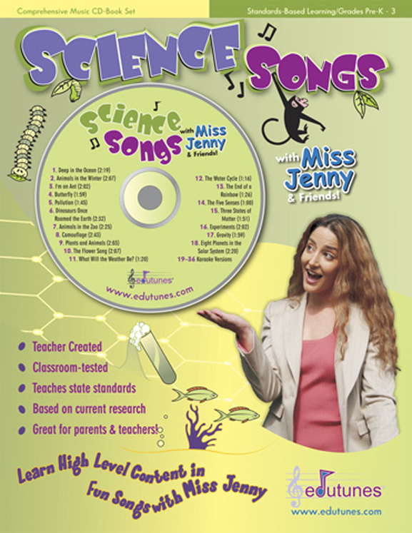 Edutunes Science Songs Book & CD Set
