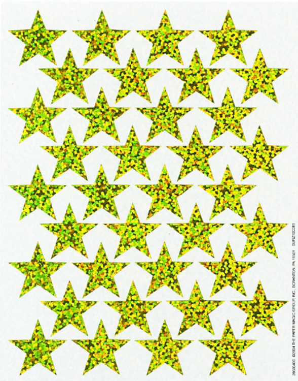Gold Stars - Sparkle Stickers