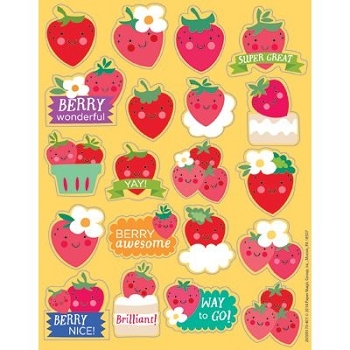 Strawberry - Scented Stickers