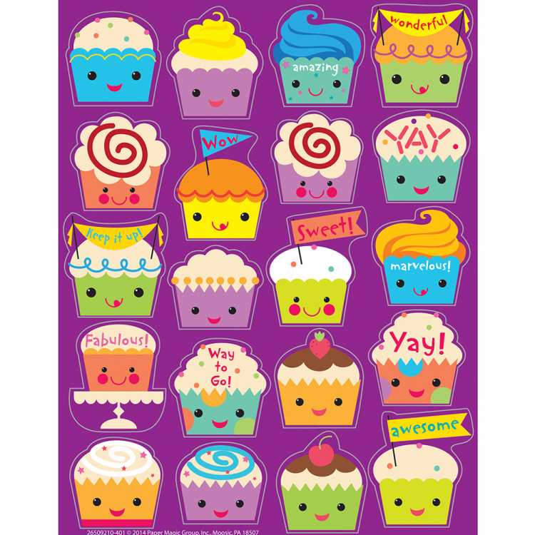 Cupcake - Scented Stickers
