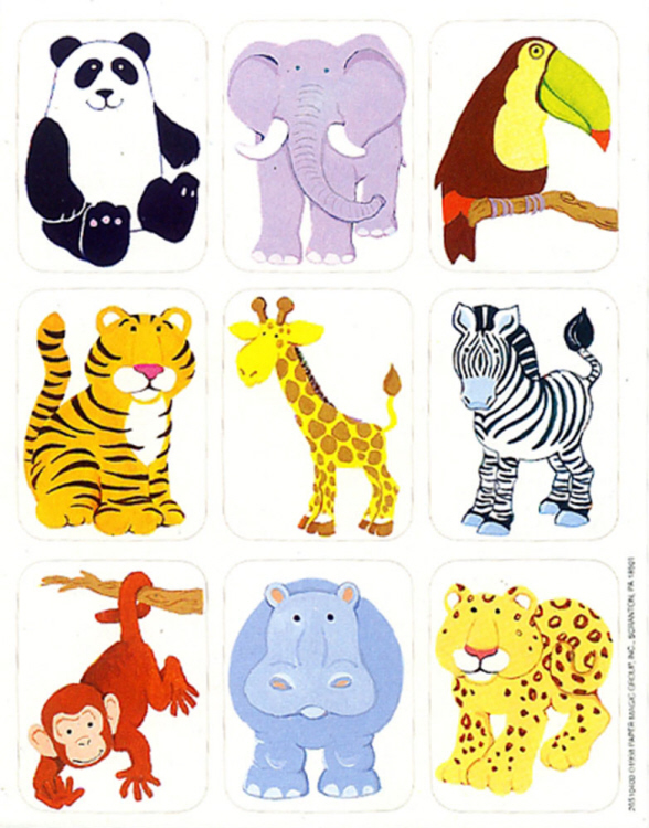 Jungle Animals - Giant Stickers