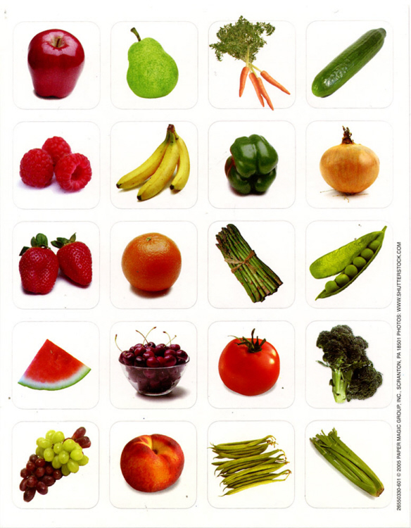 Fruits & Vegetables - Theme Stickers