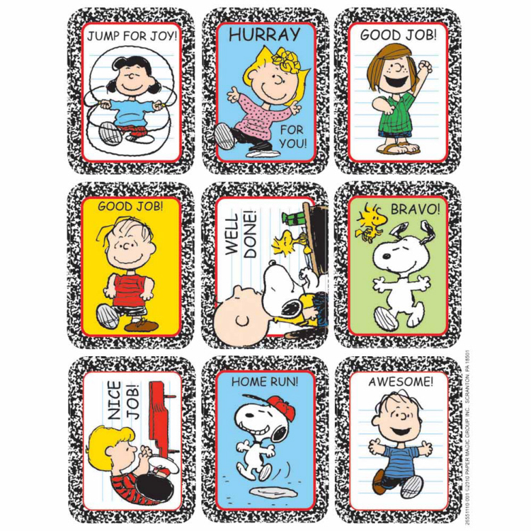 Peanuts™ - Motivational Giant Stickers