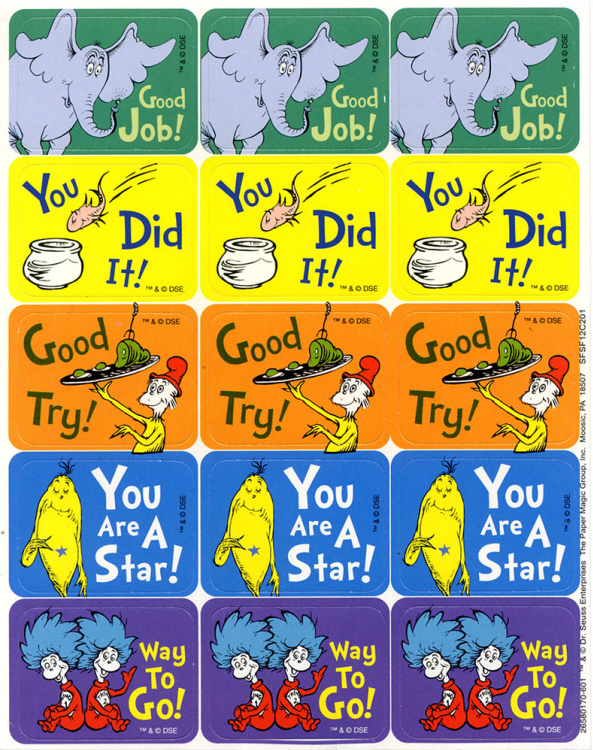 Dr. Suess™ - Success Stickers