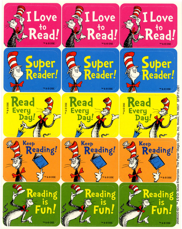 Cat in the Hat - Reading Success Stickers
