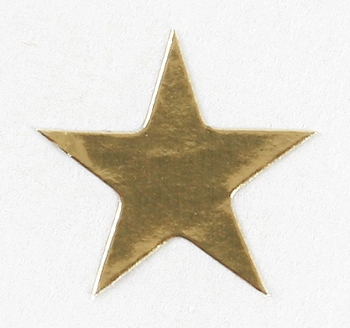 175 Gold Presto-Stick Foil Star Stickers - 3/4