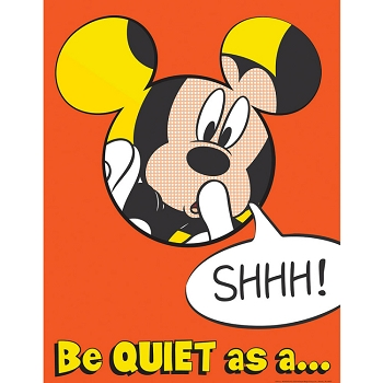 Mickey Quiet as a Mouse Poster