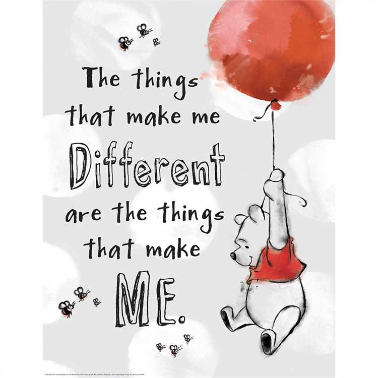 Winnie the Pooh®: The Things That Make Me Different Poster
