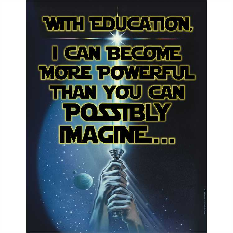 Star Wars™ Power of Education Poster