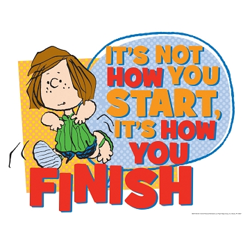 Peanuts How You Finish Poster