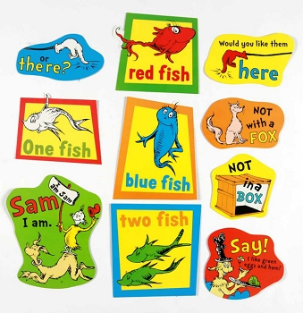 Large Dr. Seuss Fish, Fox and Sam - 2-Sided Deco Kit