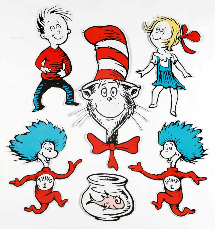 Large Dr. Seuss™ Characters 2-Sided - Deco Kit