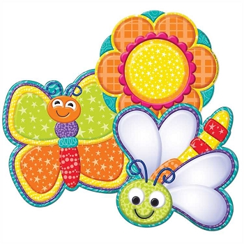 Color My World Bugs and Flowers - Cut-Outs