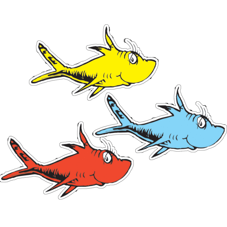 Dr. Seuss™ One Fish, Two Fish - Assorted Paper Cut-Outs