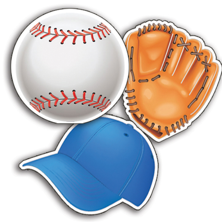 Baseball - Assorted Paper Cut-Outs