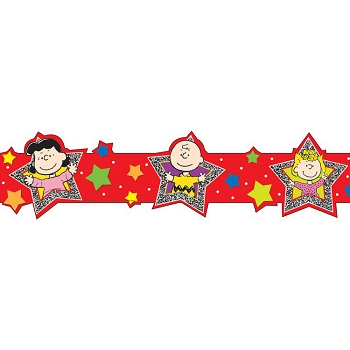 Peanuts Super Star - Extra Wide Die-Cut Deco Trim