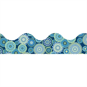 Blue Harmony Mandala - Scalloped Deco Trim