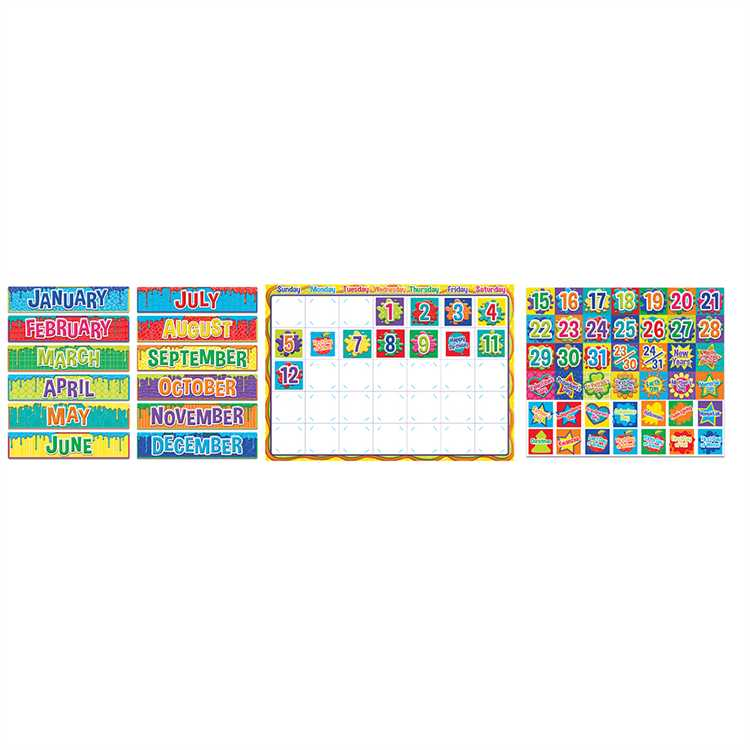 Color My World Calendar Bulletin Board Set