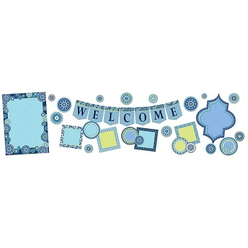 Blue Harmony Welcome Bulletin Board Set