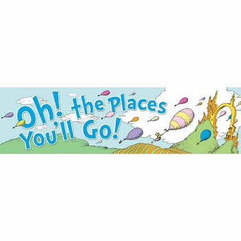 Dr. Seuss Oh the Places Balloons Classroom Banner