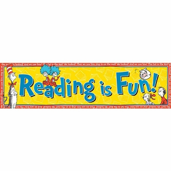 Cat in the Hat Reading is Fun! Classroom Banner