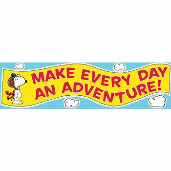 Peanuts Flying Ace Motivational Classroom Banner