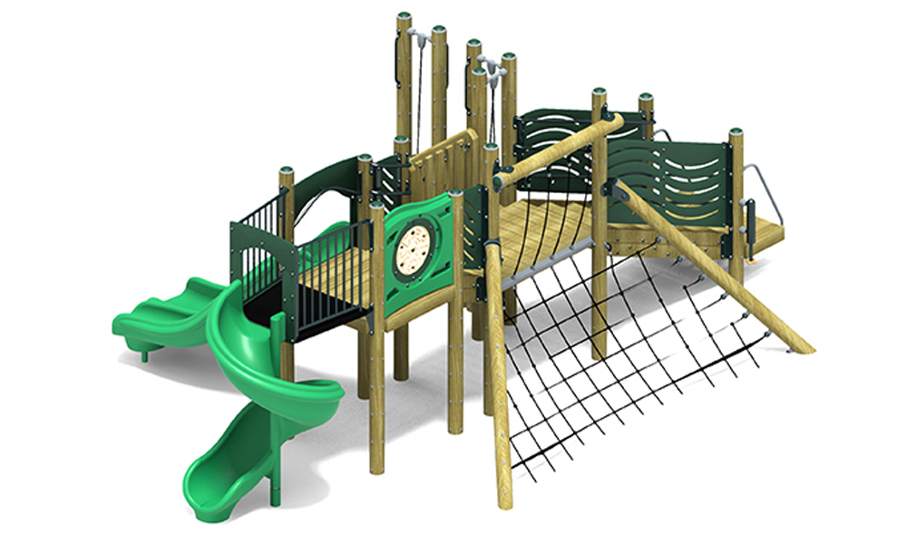 Castaway Play Structure - Wood or Metal/Plastic