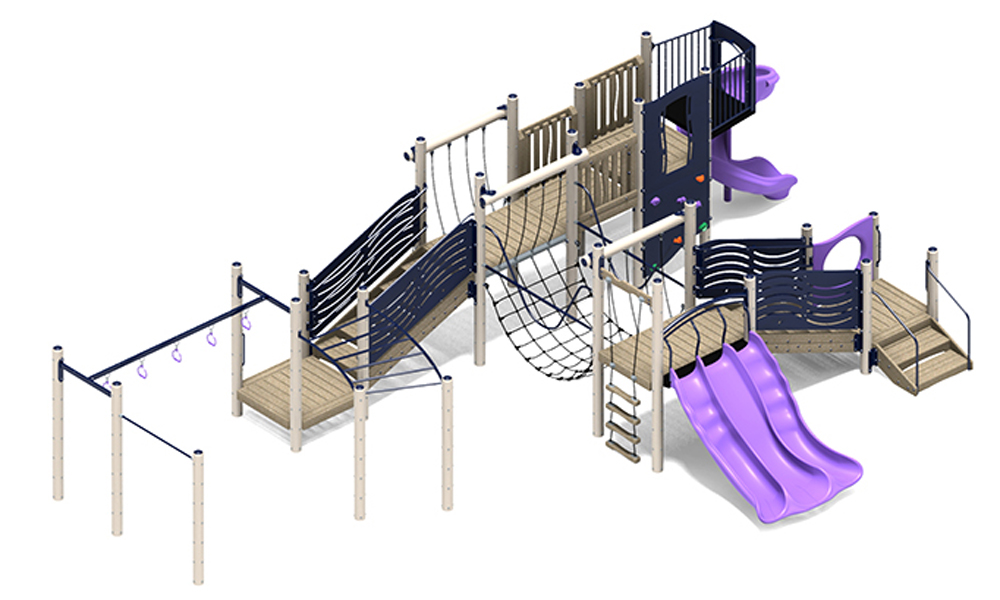 Robinson Play Structure - Wood or Metal/Plastic