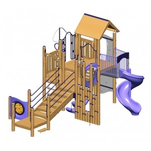 Hickory Play Structure - Metal or Wood Available