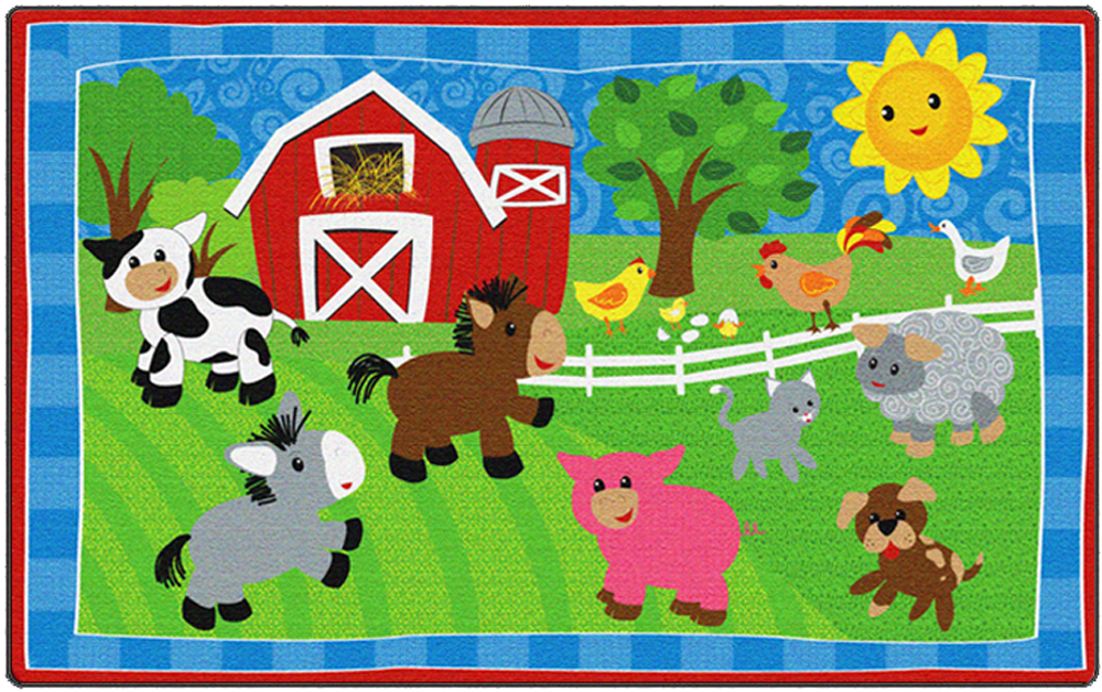 Cutie Barnyard Rug - Multiple Sizes