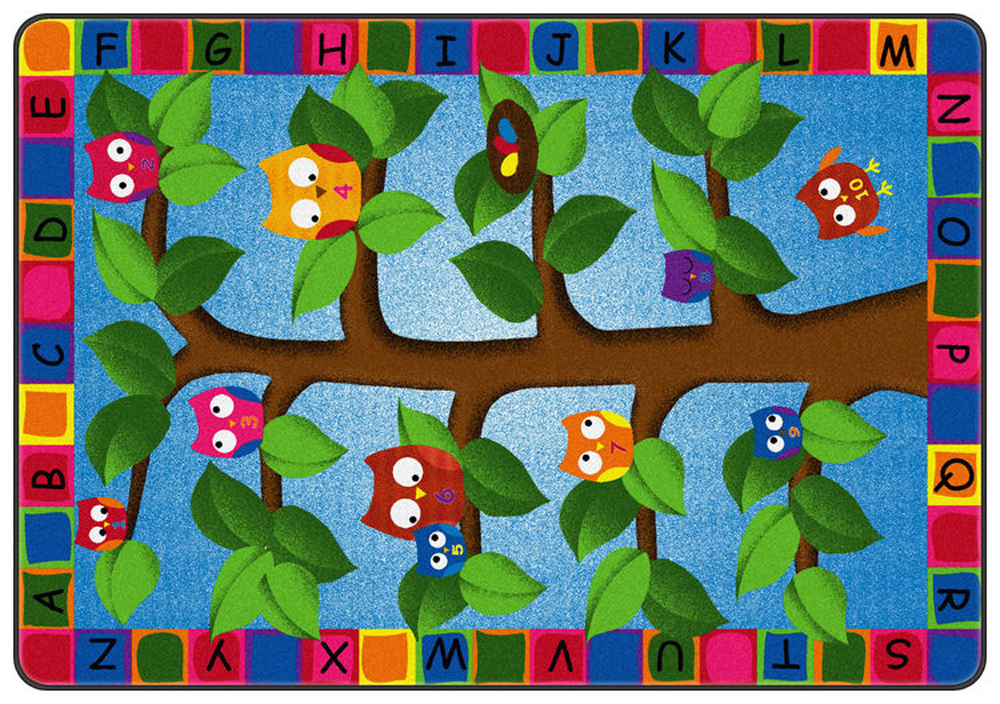 Alphabet Owls Rug - Multiple Sizes