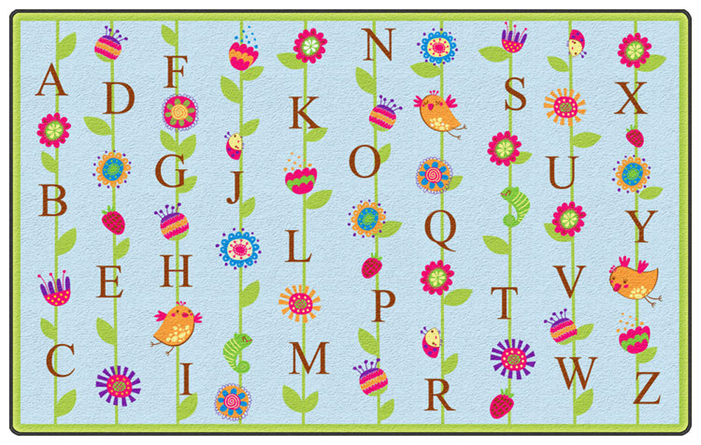 Blooming Alphabet Rug - Multiple Sizes - 2 Colors