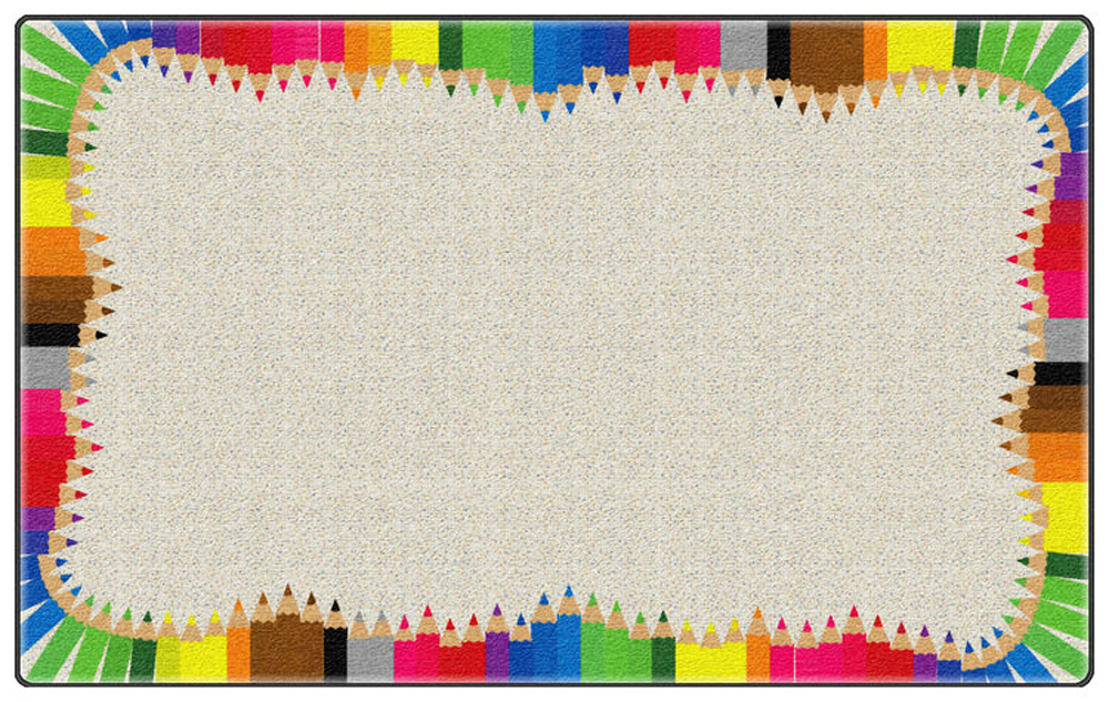 Colored Pencils Rug - Multiple Sizes