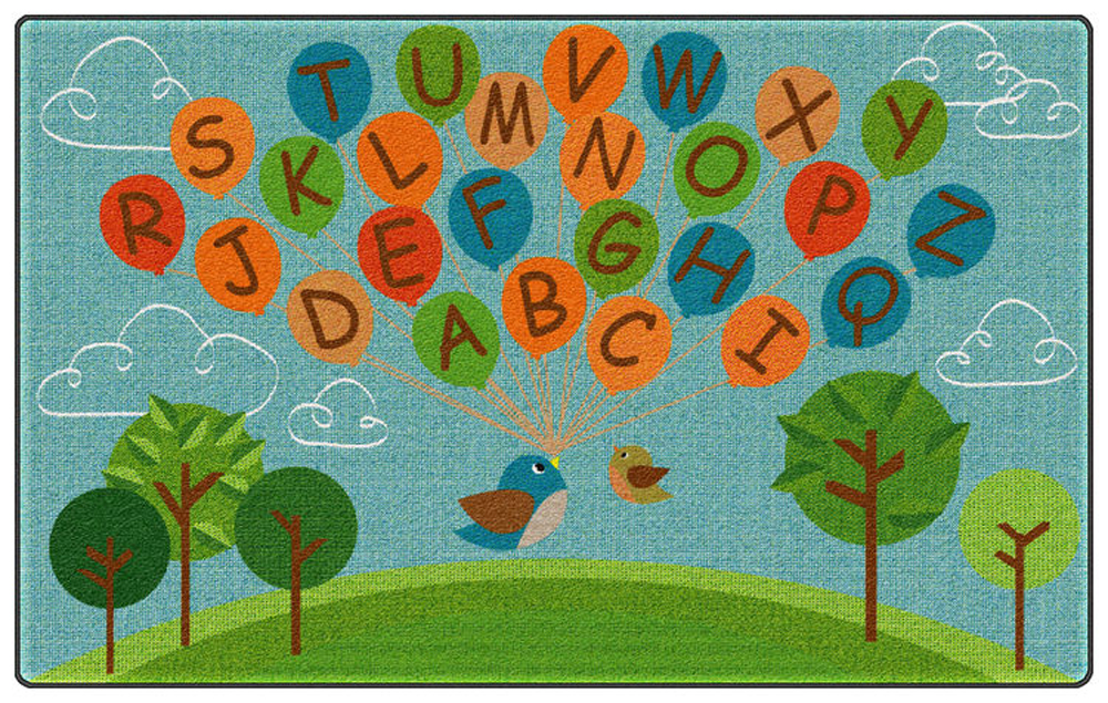 Fly Away ABCs Rug - Multiple Sizes